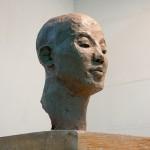 clay figurative sculpture - head