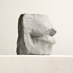 clay figurative sculpture - lips study