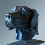 figurative sculpture, elizabeth-patrick-dog-vancouver-sculpture-studio